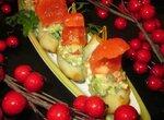 Картофельные лодочки с гуакомоле  Алые паруса