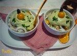 Салат из кальмаров с пикантной коньячной заправкой
