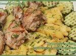 Куриные голени, тушеные с картофелем на молоке (коптильня Brand 6060)