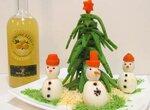 Ёлочка новогодняя из зелёного сыра