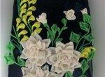 Цветы лоскутные из мастики (мастер-класс)