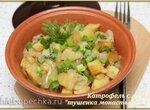 Картофель с луком Тушенка монастырская (аэрогриль Brand 35128)