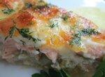 Киш с лососем и козьим сыром Шавру