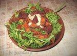 Салат из печеных овощей с рукколой  аэрофритюрница