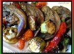 Копченые язычки, маринованные в пиве, с овощами-гриль из аэрофритюрницы