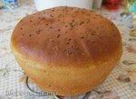 Хлеб пшенично-ржаной на хмелевой закваске в духовке
