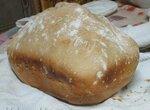 Простой заквасочный светло-серый хлеб в хлебопечке Bork-X800