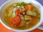 Суп с бататом и фасолью