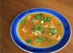 Суп острый с креветками
