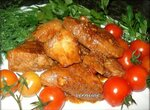 Мясо в имбирно-медовом соусе с коньяком  (мультиварка Stadler Form)