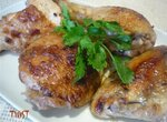 Курица в яблочно-горчичном  маринаде