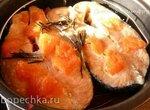 Семга с грейпфрутом в мультиварке