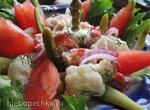 Салат с мясом краба и цветной капустой