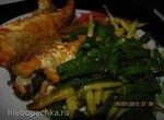 Хек с овощами в аэрофритюрнице Филипс