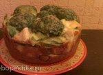 Пирог-запеканка из цветной капусты и брокколи (Redmond RMC-01)