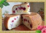 Творожный кекс с малиной (скороварка Brand 6050)