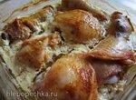Курица, запеченная в кефире