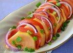 Карпаччо из папайи и красных помидор