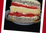 Торт Клубнично-маковый поцелуй