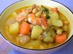 Густой куриный суп с нутом и креветками в мультиварке Redmond RMC-01