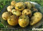 Молодой картофель в мятном соусе