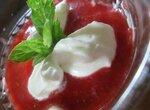 Десерт из клубники со сливками