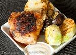 Куриные бёдрышки и овощи в гриле