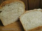 Хлеб без корки на жидкой закваске