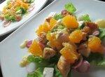 Куриный салат с апельсином под острой заправкой