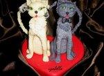 Фигурки  Влюбленные котики (мастер-класс)
