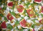 Салат Дынька, инжир и благородный сыр (Melon and Watercress Salad with Honey-Marcona Almond Dressing)