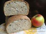 Хлеб яблочный с хлопьями и льняным семенем