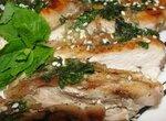 Куриное филе в соусе из мяты (аэрофритюрница Philips)