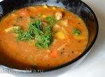 Овощной суп-пюре с жареной свининой от бабушки Нелли (Grandma Neely's Fried Pork Chop Vegetable Soup) (Мультиварка Brand 37501)