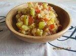 Кабачки, тушенные с овощами и рисом  в мультиварке Philips HD3036