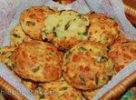 Сырное печенье с зеленым луком