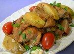 Курица с яблоками под сидром