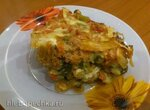 Цукини, запеченные с сыром, помидорами и пореем в мультиварке Bork U700
