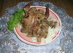 Куропатка, фаршированная грибами