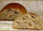 Хлеб пшеничный с инжиром и грецкими орехами (в духовке)