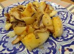 Жаренная картошечка с вешенками в скороварке Oursson