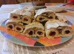 Песочное печенье с ореховым безе Глаза совы