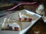 Быстрый пирог с вишней и швейцарской меренгой