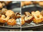 Шашлычок из креветок с грибами (сковорода «чудо-гриль»)