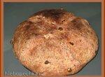 Хлеб пшеничный на закваске с изюмом и розмарином (духовка)