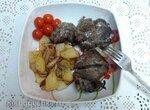 Запеченные свиные щеки с гарниром  (Galtas al Horno)