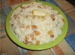 Каша рисовая молочная с изюмом (Panasonic SR-TMH 18)