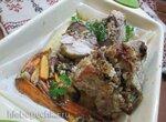Свинина, фаршированная гречкой и грибами