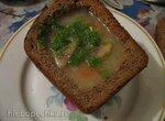 Суп с грибами в хлебной тарелке (Falesna drst'kova polevka z hlivy podle Jany F.)
