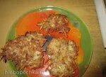 Картофельные печеньки с мясом и сыром
